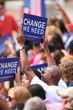 Candidato presidencial, Barack Obama Fotografía de archivo libre de regalías