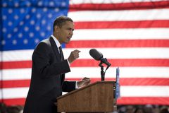 Candidato presidencial Barack Obama Foto de archivo libre de regalías