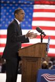 Candidato presidencial Barack Obama Fotos de Stock Royalty Free