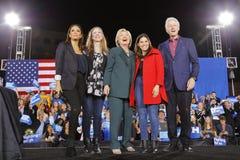 Candidato presidencial Democrática Hillary Clinton Campaigns In Las Vegas, Nevada Foto de Stock Royalty Free