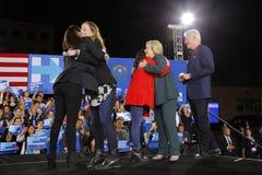 Candidato presidencial Democrática Hillary Clinton Campaigns In Las Vegas, Nevada fotografia de stock
