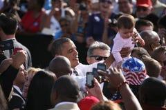 Candidato presidenziale Barack Obama Fotografia Stock