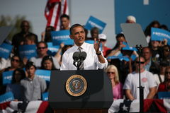 Candidato presidenziale Barack Obama Immagine Stock