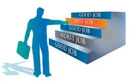 Candidato que selecciona a mejor Job Illustration Fotografía de archivo libre de regalías