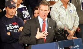 Candidato senatorial de Scott Brown Imagen de archivo libre de regalías