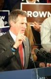 Candidato senatorial de Scott Brown que hace una punta Imagenes de archivo