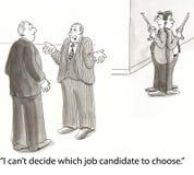 Candidatos de duelo Imagens de Stock Royalty Free