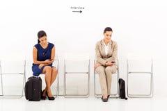 Candidatos antes de la entrevista Fotografía de archivo
