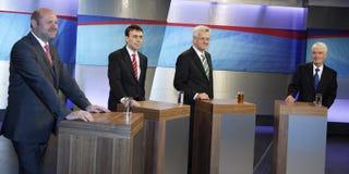 Candidatos políticos Foto de archivo