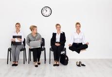 Candidats de travail avec le concept spécial de qualifications Photographie stock libre de droits