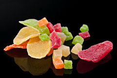 Candided fruit slices Stock Image