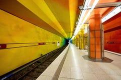 Candidplatz地铁站在慕尼黑 免版税库存照片