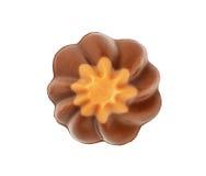 Candie шоколада от взгляд сверху собрания Стоковые Изображения