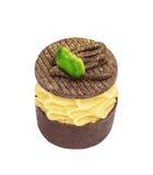 Candie del chocolate de la colección con los pistachos y el polvo del oro Fotos de archivo
