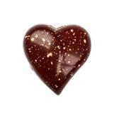 Candie del chocolate de la forma de la colección de la opinión superior del corazón Fotos de archivo