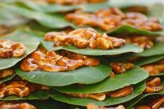 candied гайки листьев анакардии Стоковые Фотографии RF