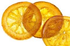 Candied оранжевый кусок Стоковые Изображения
