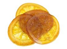 Candied оранжевый кусок Стоковые Фотографии RF