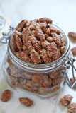 Candied almond and pecan Stock Photo