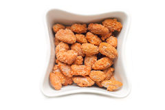 Candied almonds in a bowl Stock Photos