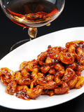 Candied almonds Stock Image