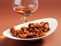Candied almonds Royalty Free Stock Images