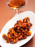 Candied almonds Stock Images