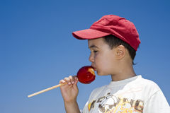 Candied apple Stock Images