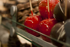Candied Apples. A Picture from a Christmas Bazaar in Vienna, Austria Royalty Free Stock Photo