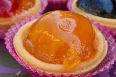 Candied apricot close up Stock Photography
