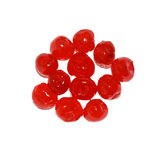 Candied cherry. Cherry isolated on white background Royalty Free Stock Images