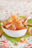 Candied citrus peel arkivbild