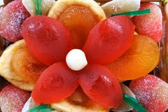 Candied and dried fruits Royalty Free Stock Images
