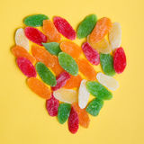 Candied dried fruits Stock Photo