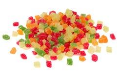 candied färgglada frukter Arkivfoto