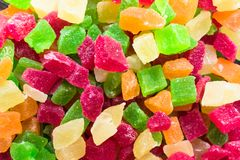 Candied fruit candies multicolored all sorts, background stock images