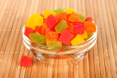 Candied fruit in a vase. Stock Photography