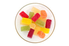 Candied fruit jelly on plate Stock Image