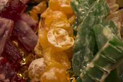 Candied Fruit. At the Mercat de Sant Josep, Barcelona, Spain Royalty Free Stock Photography