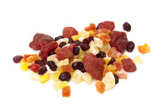 Candied fruit. On a white background Royalty Free Stock Photography