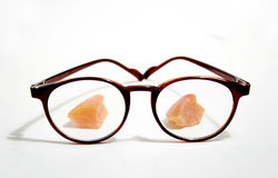 Candied fruits behind the Glasses Royalty Free Stock Images