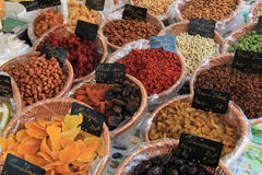 Candied fruits and nuts Stock Photos