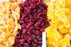Candied fruits with sugar in market Stock Images