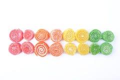 candied fruktgelé Arkivfoton