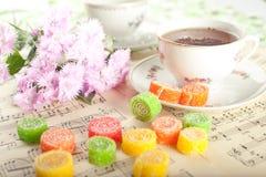 candied fruktgelétea Royaltyfria Bilder