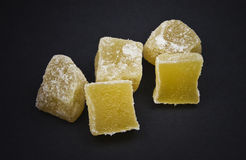 Candied Ginger Cubes Stock Photos