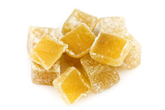 Candied Ginger Cubes Royalty Free Stock Photos