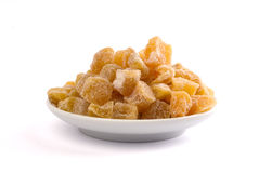 Candied ginger pieces Stock Photo