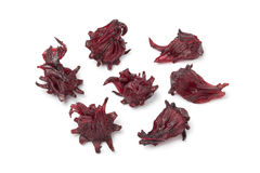 Candied hibiscus flowers Stock Photo