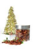 candied kryddigt för mandelar Arkivbild